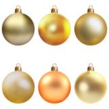 圣诞节复制装饰集中金大装饰品红色空间结构树 向量例证