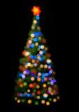 圣诞节多彩多姿的结构树 图库摄影