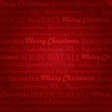 圣诞节多语种模式无缝的向量 免版税库存图片
