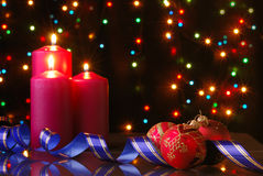 圣诞节夜间 图库摄影
