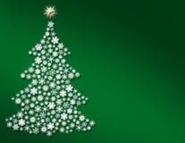 圣诞节大型雪花结构树 库存图片
