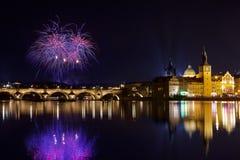 圣诞节大气在布拉格,捷克 免版税库存图片