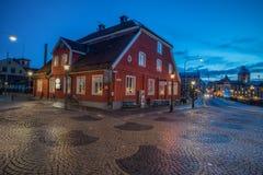 圣诞节大气在诺尔雪平,瑞典 免版税库存图片