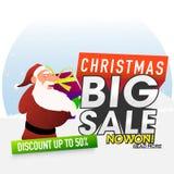 圣诞节大销售海报、横幅或者飞行物 库存图片