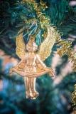 圣诞节天使装饰品 图库摄影