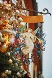 圣诞节天使装饰在史特拉斯堡 库存图片
