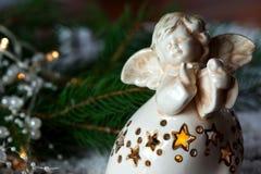 圣诞节天使装饰 免版税库存照片