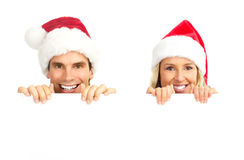 圣诞节夫妇 库存照片
