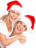 圣诞节夫妇 图库摄影