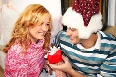 圣诞节夫妇 库存图片