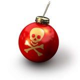 圣诞节头骨 免版税库存图片