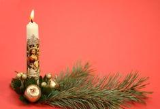 圣诞节奉献的蜡烛 免版税库存照片