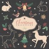 圣诞节套手拉的欢乐例证 向量例证