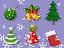 圣诞节套象汇集 免版税库存图片