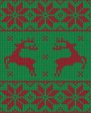 圣诞节套头衫样式设计 免版税库存图片