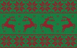 圣诞节套头衫样式设计 免版税库存照片