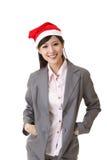 圣诞节女商人 免版税库存照片