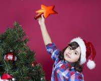 圣诞节女孩一点 免版税图库摄影