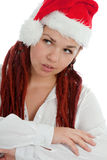圣诞节女孩现代纵向年轻人 库存照片