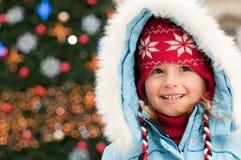 圣诞节女孩纵向 图库摄影