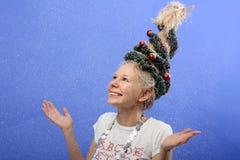圣诞节女孩 免版税图库摄影