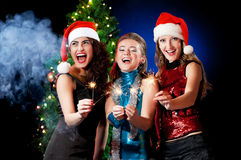 圣诞节妇女 免版税库存图片