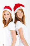 圣诞节姐妹 图库摄影