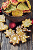 圣诞节姜和蜂蜜曲奇饼 免版税库存图片