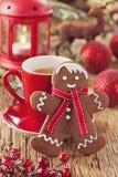 圣诞节姜饼人 免版税库存照片