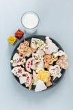 圣诞节姜饼曲奇饼 库存照片