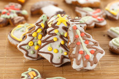 圣诞节姜饼结构树 免版税库存图片