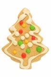 圣诞节姜饼结构树 免版税库存照片