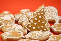 圣诞节姜饼结构树 库存图片