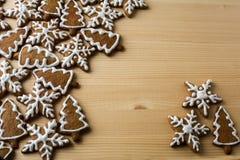 圣诞节姜饼背景 免版税库存照片