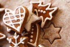 圣诞节姜饼 库存照片