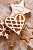 圣诞节姜饼 免版税库存照片