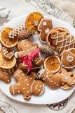 圣诞节姜饼 图库摄影