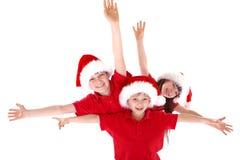 圣诞节姿势 免版税库存照片