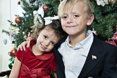 圣诞节姿势 免版税图库摄影