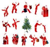 圣诞节子句圣诞老人 免版税库存图片