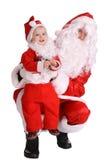圣诞节子句夫妇圣诞老人等待 库存图片