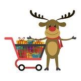 圣诞节季节动画片 库存例证