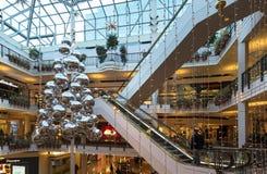 圣诞节季节在先驱地方在波特兰,俄勒冈 免版税库存图片