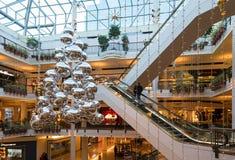 圣诞节季节在先驱地方在波特兰,俄勒冈 库存照片
