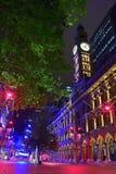 圣诞节季节在马丁位置,悉尼,澳大利亚 免版税库存图片