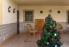 圣诞节季节的俏丽的露台 图库摄影
