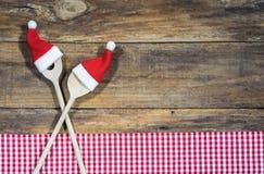 圣诞节季节食物菜单卡片背景 库存照片