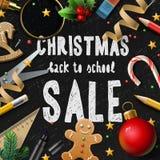 圣诞节学校销售 免版税库存图片