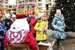 圣诞节孩子的庆祝事件 库存图片