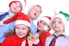 圣诞节孩子 免版税库存照片